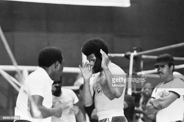 Leon Spinks training ahead of his second fight with Muhammad Ali 16th September 1978