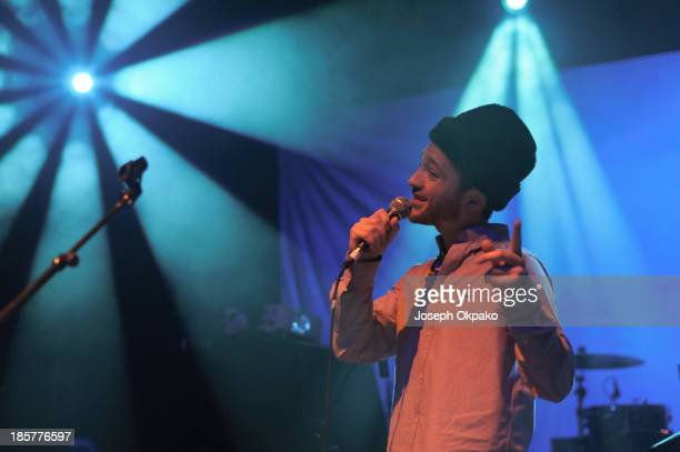 Leon T Pearl performs at Shepherds Bush Empire on October 24 2013 in London England