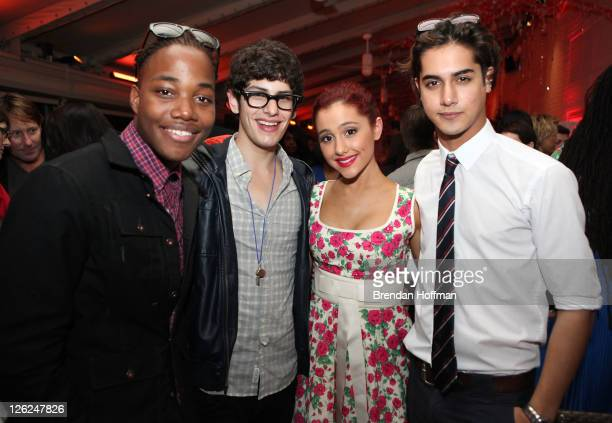 Leon Thomas III Matt Bennett Ariana Grande and Avan Jogia attend Nickelodeon's celebration of the 8th Annual Worldwide Day of Play the at The W Hotel...