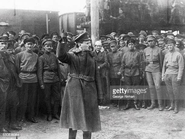 Leon Trotsky a Russian leader of the Bolshevik Revolution