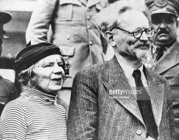 Leon Trotsky Russian revolutionary with his wife Natalie Ivanovna Trotskaia