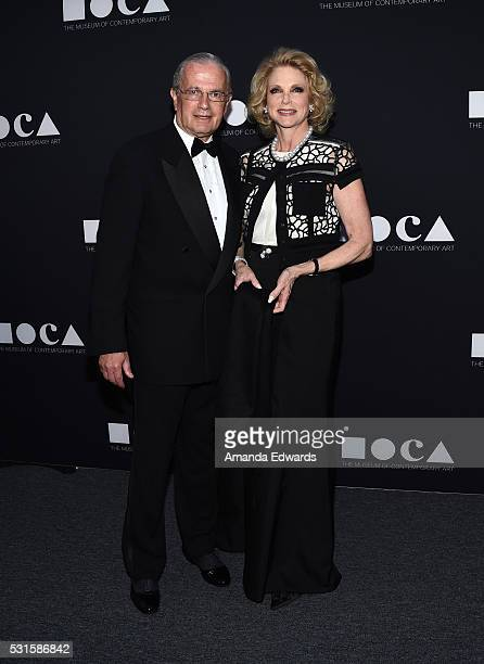 Leon Vahn and Stephanie Vahn arrive at the MOCA Gala 2016 at The Geffen Contemporary at MOCA on May 14 2016 in Los Angeles California