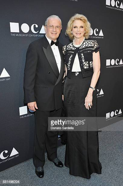 Leon Vahn and Stephanie Vahn attend the MOCA Gala 2016 at The Geffen Contemporary at MOCA on May 14 2016 in Los Angeles California