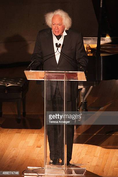 Leon Wieseltier, Literary Editor at The New Republic, speaks on stage at the New Republic Centennial Gala at the Andrew W. Mellon Auditorium on...