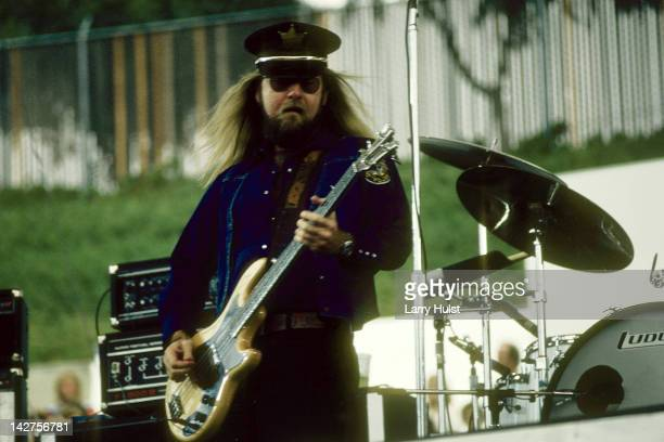 Leon Wilkerson performing with Lynyrd Skynyd the Oakland Coliseum in California on September 20 1975