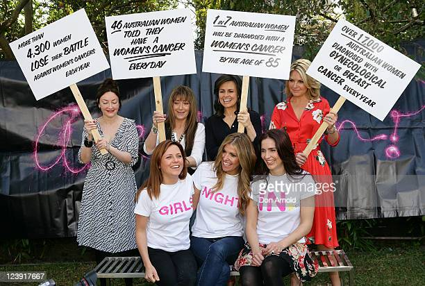 Leona Edmiston Wendy Matthews Lisa Wilkinson and Georgie Gardner and Toni Pearen Laura Csortan and Alana Lowes pose at the Cancer Council's 'Girls...