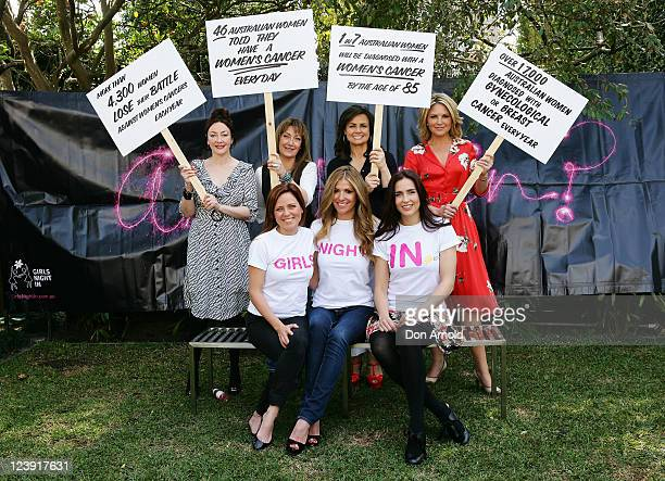 Leona Edmiston Wendy MatthewsLisa Wilkinson Georgie Gardner and Toni Pearen Laura Csortan and Alana Lowes pose at the Cancer Council's 'Girls Night...