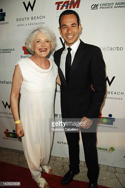 Leona Forman and Helio Castroneve attends Brazil Foundation Gala at W South Beach on March 27 2012 in Miami Beach Florida