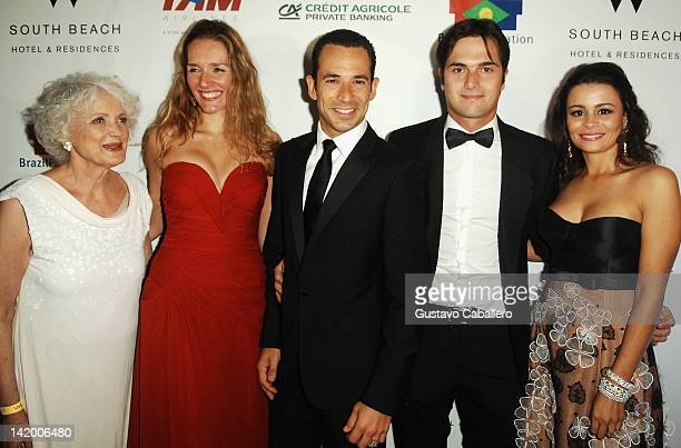 Leona Forman Daniela Fonseca Helio Castroneves Nelsinho Piquet and Maria Carolina Tavares de Melo attend Brazil Foundation Gala at W South Beach on...