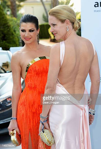 Leona Koenig and Eva Dichand attend the 2012 amfAR's Cinema Against AIDS during the 65th Annual Cannes Film Festival at Hotel Du Cap on May 24 2012...