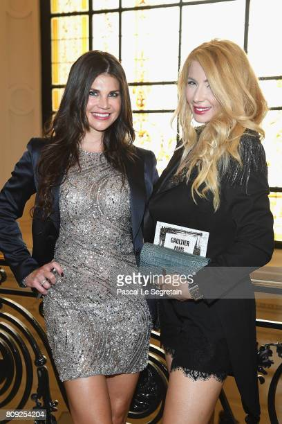 Leona Koenig and Ivana IlicLabia attend the Jean Paul Gaultier Haute Couture Fall/Winter 20172018 show as part of Haute Couture Paris Fashion Week on...
