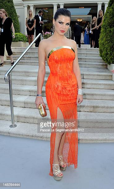 Leona Koenig arrives at the 2012 amfAR's Cinema Against AIDS during the 65th Annual Cannes Film Festival at Hotel Du Cap on May 24 2012 in Cap...