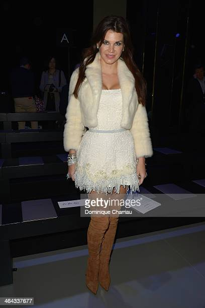 Leona Koenig attends the Elie Saab show as part of Paris Fashion Week Haute Couture Spring/Summer 2014 on January 22 2014 in Paris France
