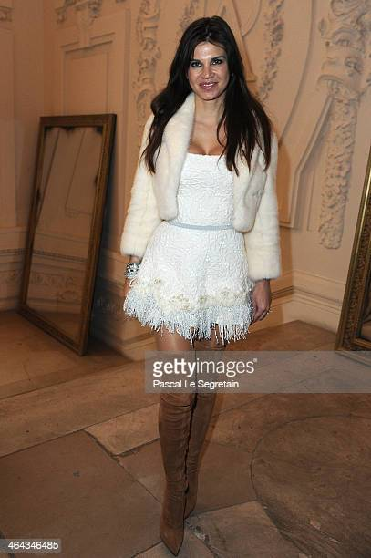 Leona Koenig attends the Jean Paul Gaultier show as part of Paris Fashion Week Haute Couture Spring/Summer 2014 on January 22 2014 in Paris France