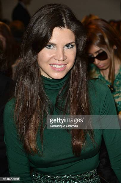 Leona Koenig attends the Zuhair Murad show as part of Paris Fashion Week Haute Couture Spring/Summer 2014 on January 23 2014 in Paris France
