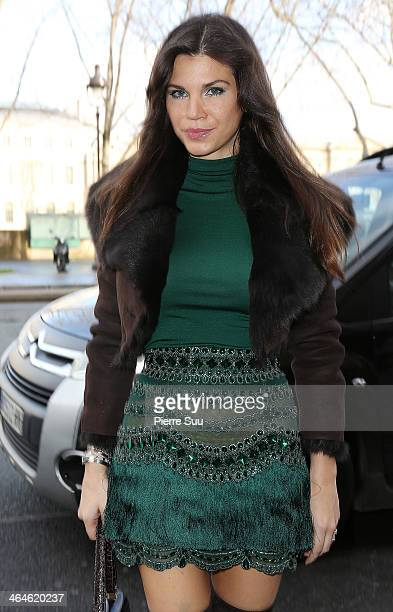 Leona Koenig attends the Zuhair Murad show as part of Paris Fashion Week Haute Couture Spring/Summer 2014> on January 23 2014 in Paris France