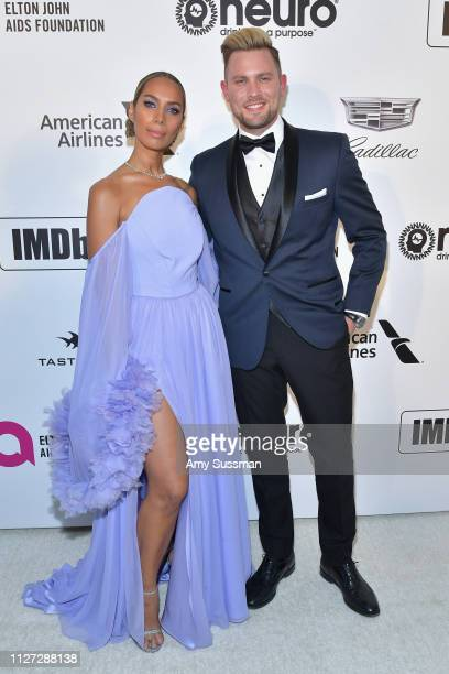 Leona Lewis and Dennis Jauch attend the 27th annual Elton John AIDS Foundation Academy Awards Viewing Party celebrating EJAF and the 91st Academy...