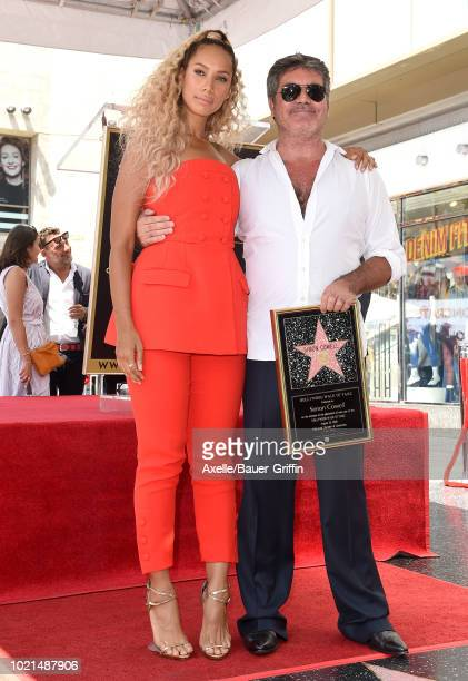 Leona Lewis and Simon Cowell attend the ceremony honoring Simon Cowell with star on the Hollywood Walk of Fame on August 22 2018 in Hollywood...