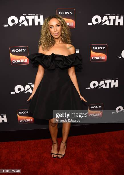 Leona Lewis arrives at Sony Crackle's 'The Oath' Season 2 exclusive screening event at Paloma on February 20 2019 in Los Angeles California