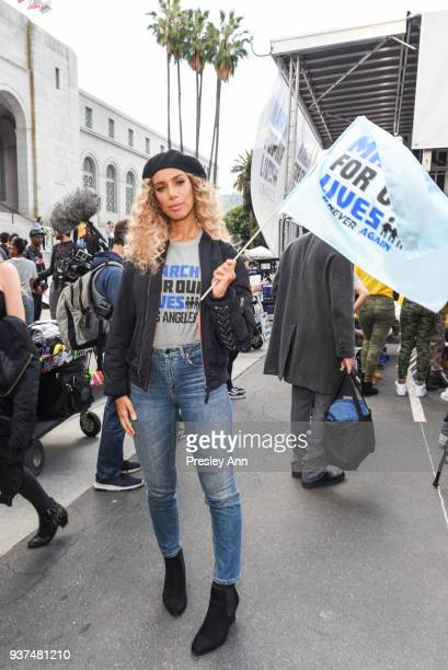 Leona Lewis attends March For Our Lives Los Angeles on March 24 2018 in Los Angeles California