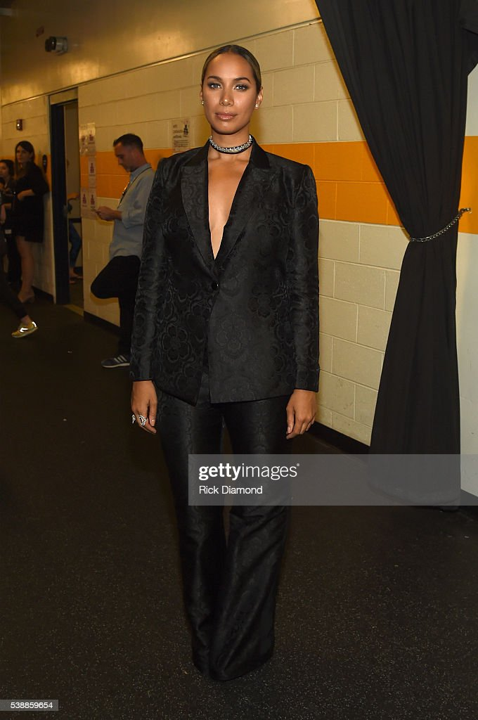 Leona Lewis attends the 2016 CMT Music awards at the Bridgestone Arena on June 8, 2016 in Nashville, Tennessee.