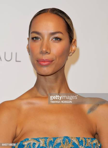 Leona Lewis attends the 2017 Elton John AIDS Foundation Academy Awards Viewing Party in West Hollywood California on February 26 2017 / AFP / TIBRINA...