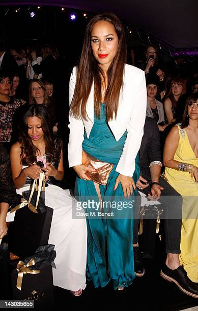 Leona Lewis attends the Ariella Couture fashion show at 250 Bishopsgate on April 17 2012 in London England