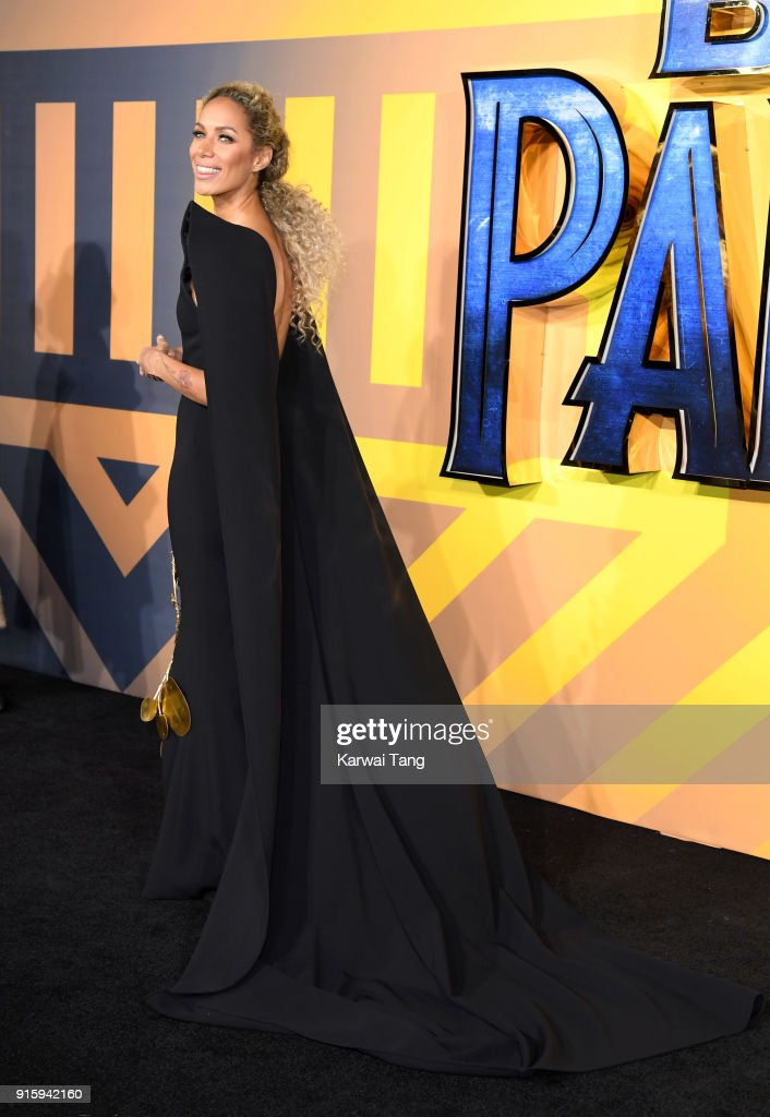 Leona Lewis attends the European Premiere of 'Black Panther' at Eventim Apollo on February 8, 2018 in London, England.