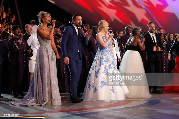 Leona Lewis Charles Esten Megan Hilty Cynthia Erivo Alfie Boe and others perform during the show finale during the 2018 National Memorial Day Concert...