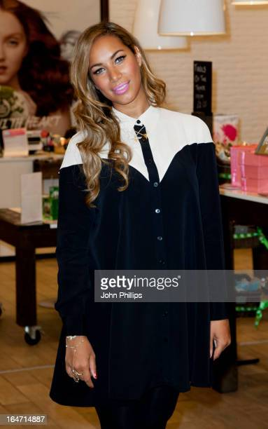 Leona Lewis makes a personal appearance in her role as ambassador for The Body Shop at The Body Shop, Westfield London on March 27, 2013 in London,...