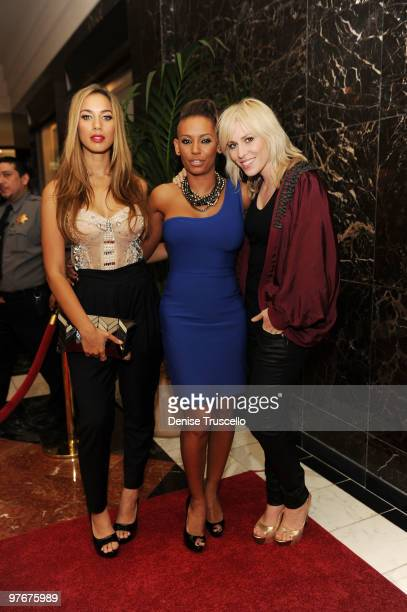 Leona Lewis Mel B and Natasha Bedingfield arrive at Matt Goss' debut performance at Caesars Palace on March 12 2010 in Las Vegas Nevada