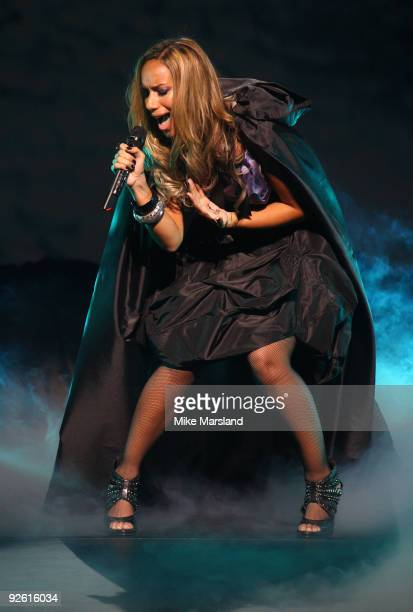 Leona Lewis performs at her first ever UK concert at Hackney Empire on November 2 2009 in London England