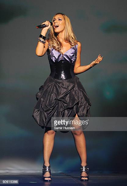Leona Lewis performs at the Hackney Empire on November 2 2009 in London England