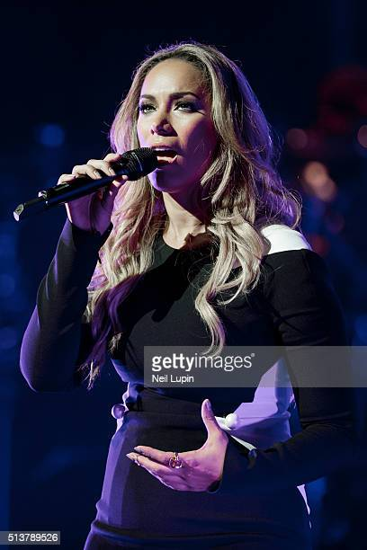 Leona Lewis performs at the London Palladium on March 4 2016 in London England