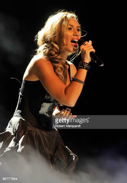 Leona Lewis performs during the 2009 Onda Awards held at the Theater Liceu on November 4 2009 in Barcelona Spain