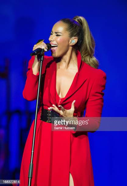 Leona Lewis performs live on stage at the Royal Albert Hall on May 8 2013 in London England