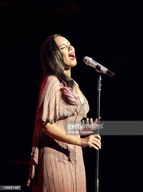 Leona Lewis performs on stage as part of the Rays Of Sunshine charity concert at Royal Albert Hall on June 7 2012 in London United Kingdom