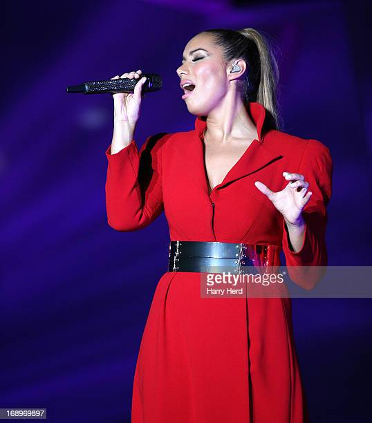 Leona Lewis performs on stage at BIC on May 17 2013 in Bournemouth England