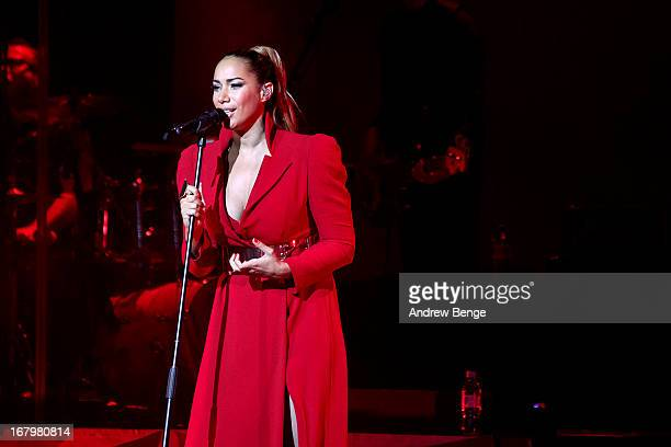 Leona Lewis performs on stage at City Hall on May 3, 2013 in Sheffield, England.