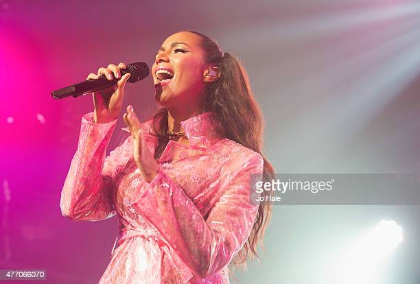 Leona Lewis performs on stage at GAY Heaven on June 13 2015 in London United Kingdom