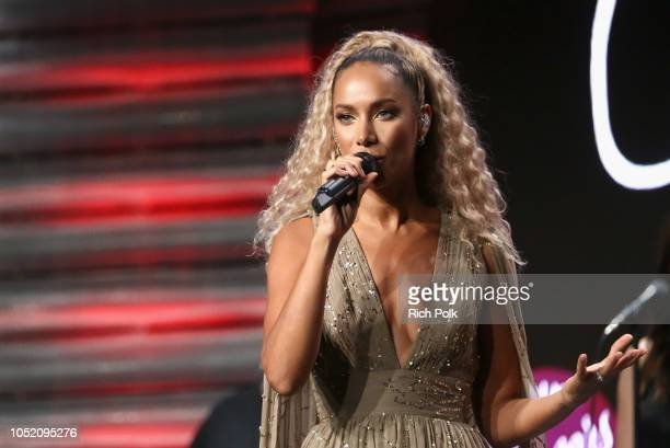 Leona Lewis performs onstage at Point Foundation's Point Honors gala at The Beverly Hilton Hotel on October 13 2018 in Beverly Hills California