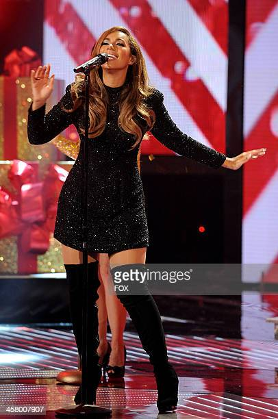 Leona Lewis performs onstage on FOX's The X Factor Season 3 Live Finale on December 19 2013 in Hollywood California