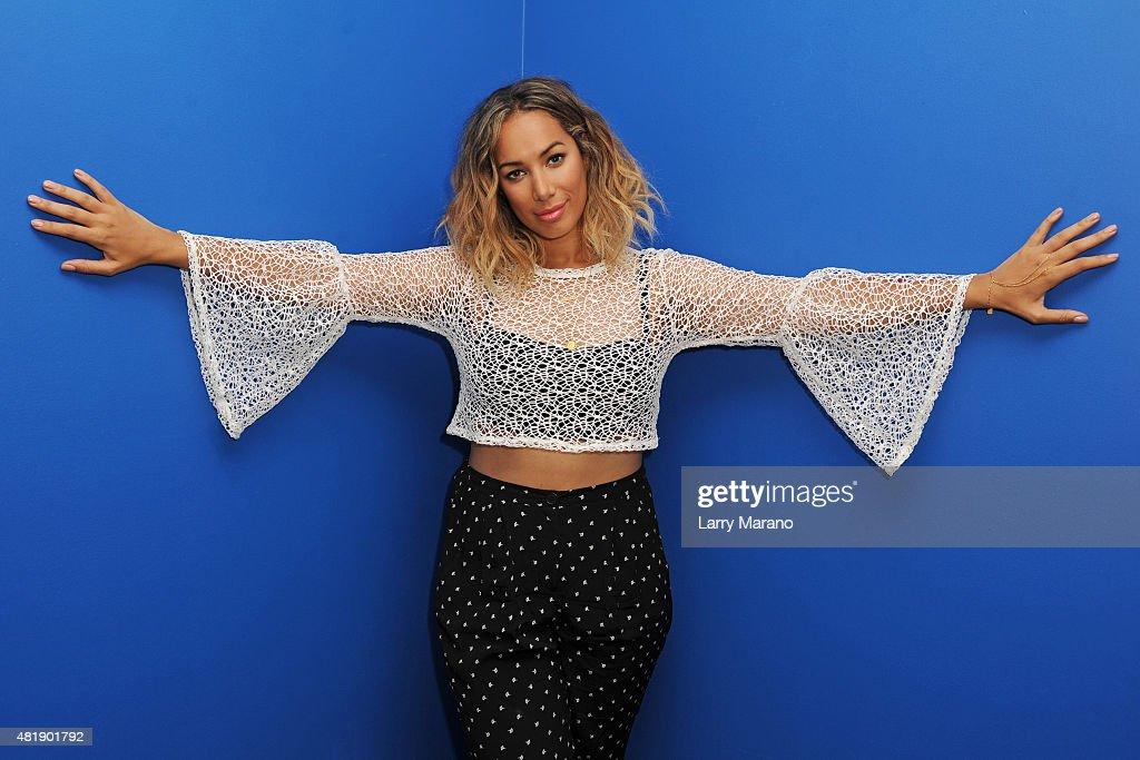 Leona Lewis Visits Y 100 Radio Station