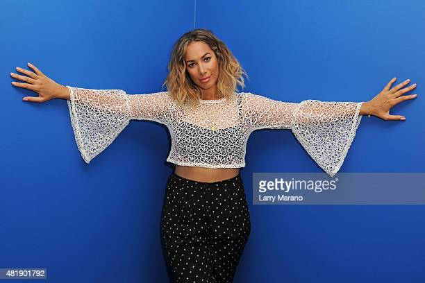Leona Lewis poses for a portrait at Radio Station Y100 on July 24 2015 in Miami Florida