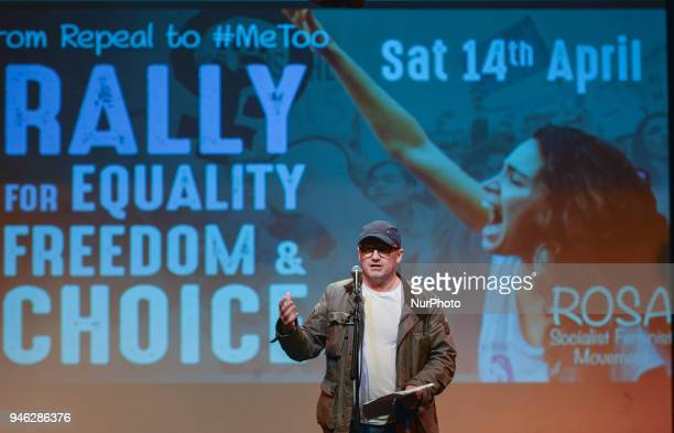 Leonard Abrahamson an Irish film and television director speaks a Rally for Equality Freedom amp Choice organised by ROSA an Irish Socialist Feminist...