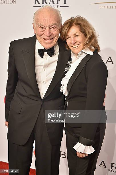Leonard and Judy Lauder attend the 15th Annual Elton John AIDS Foundation An Enduring Vision Benefit at Cipriani Wall Street on November 2 2016 in...