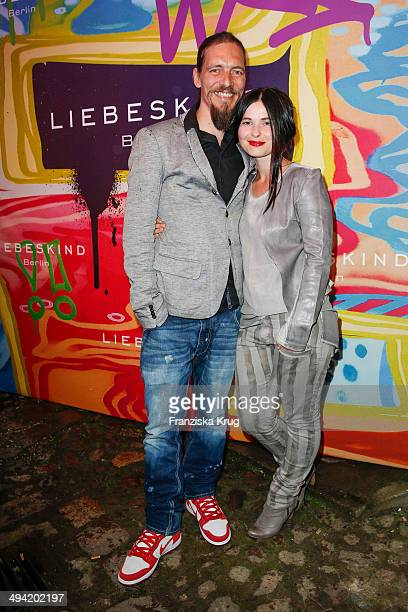 Leonard Andreae and Anna Fischer attend the Liebeskind Berlin Store Opening on May 28, 2014 in Berlin, Germany.