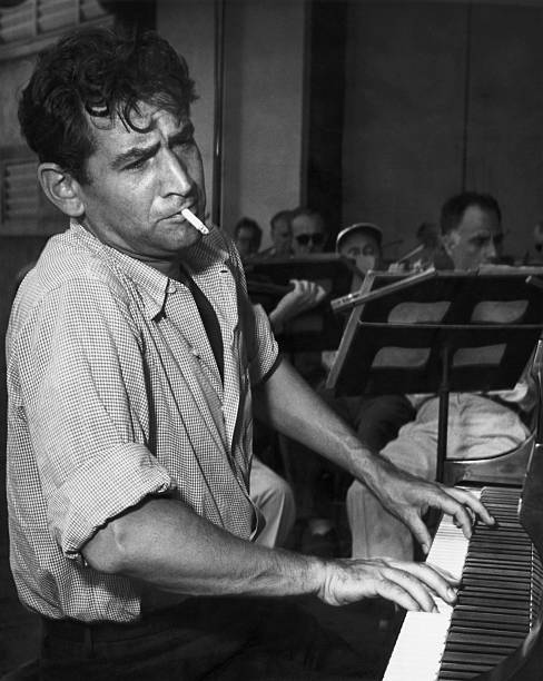 Leonard Bernstein Smoking at Piano