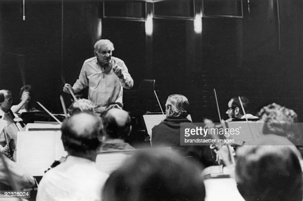 Leonard Bernstein conducts at the Salzburg Festival Photograph 1977