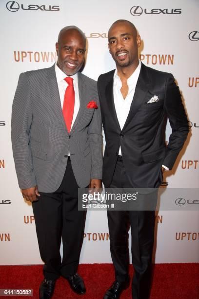 CEO Leonard Burnett and film director Charles D King attend Uptown Magazine's PreOscar Gala on February 22 2017 in Los Angeles California